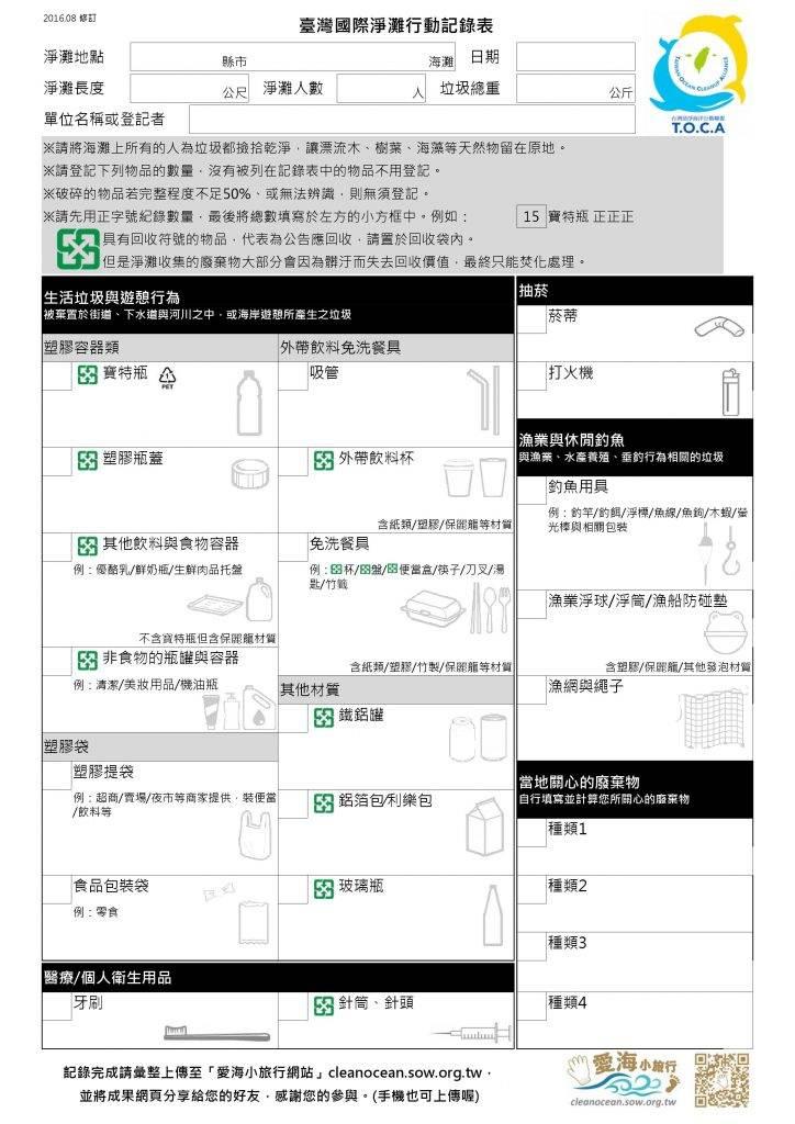 台灣ICC紀錄表