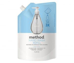 Method 推出可重複填裝 3 次的補充包。來源:Method
