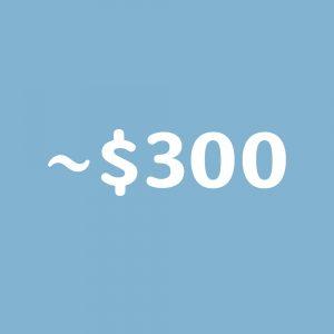 ~$300